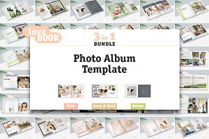 3 in 1 / Photo Album Template Bundle