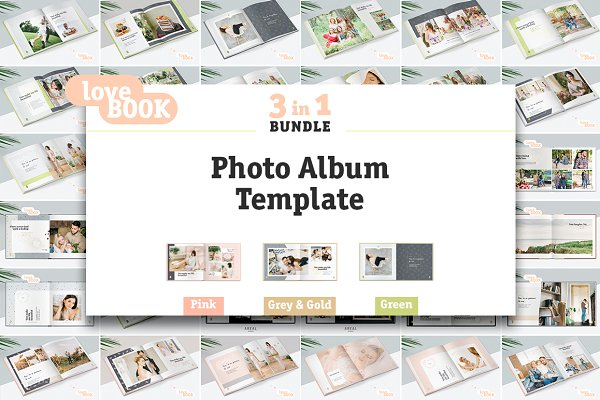3 in 1 / Photo Album Template Bundl…