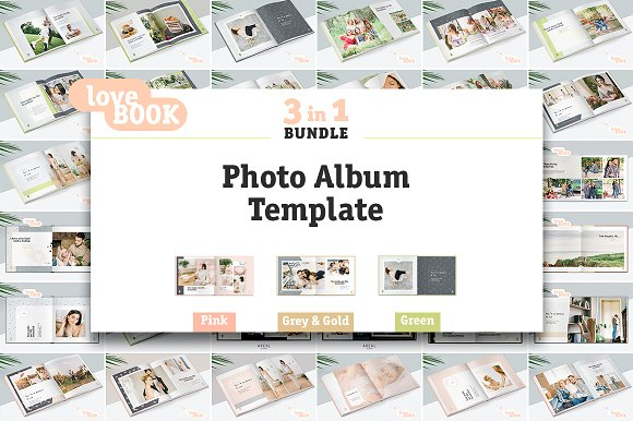 3 in 1 photo album template bundle stationery templates 3 in 1 photo album template bundle stationery pronofoot35fo Gallery