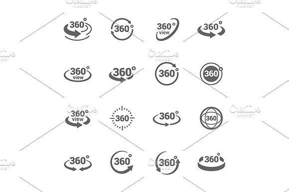 360 Degree View Icons