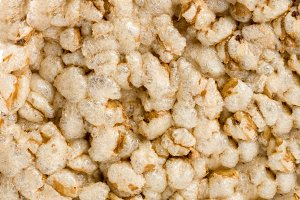 Grain crispbreads isolated on white background close-up macro