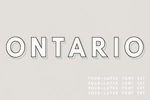 Ontario | A 4-Layer Font Set