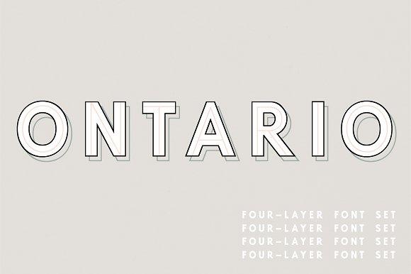 Ontario A 4-Layered Font Set