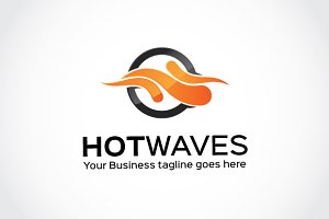Hot Waves Logo Template