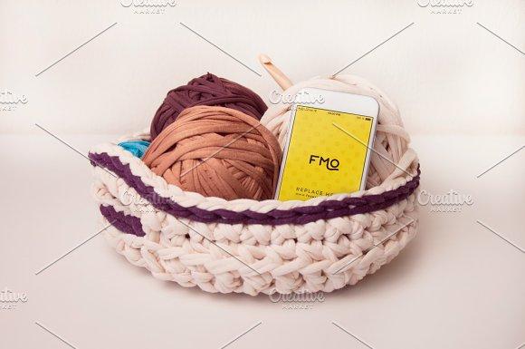 White Knitting 6 Smarphone Mockups