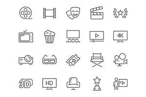 Line Cinema Icons