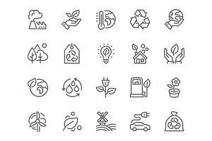 Line Eco Icons