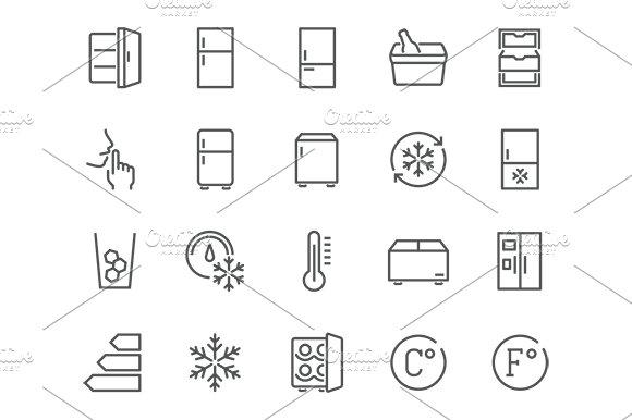Line Fridge Icons