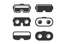VR Headset Icons Set