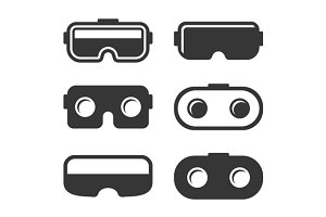VR Headset Icons Set