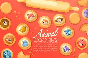 Cute Animal Cookies Set1