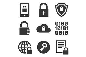 Encrypt Technology Security Icons