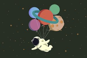 Spaceman in space