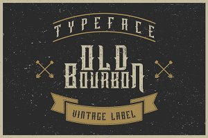 Old Bourbon label font
