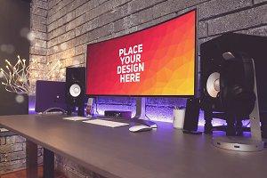 PC Monitor Display Mock-up#57
