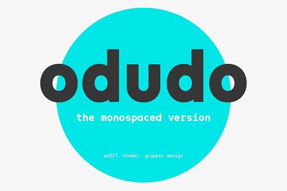 Odudo Mono Typeface