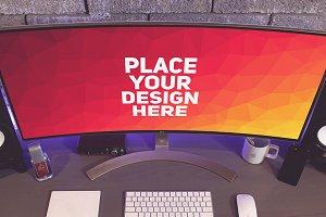 PC Monitor Display Mock-up#58