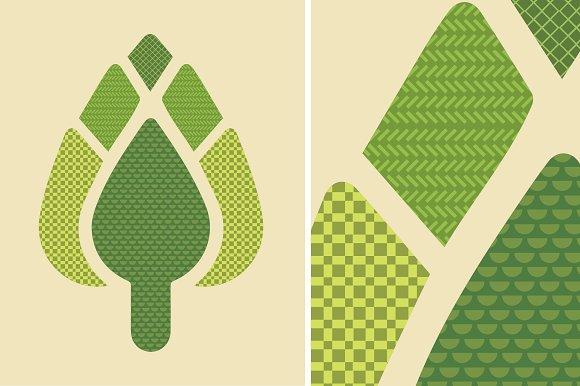 Artichoke Patterned Illustration