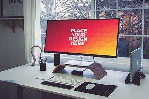 PC Monitor Display Mock-up#60