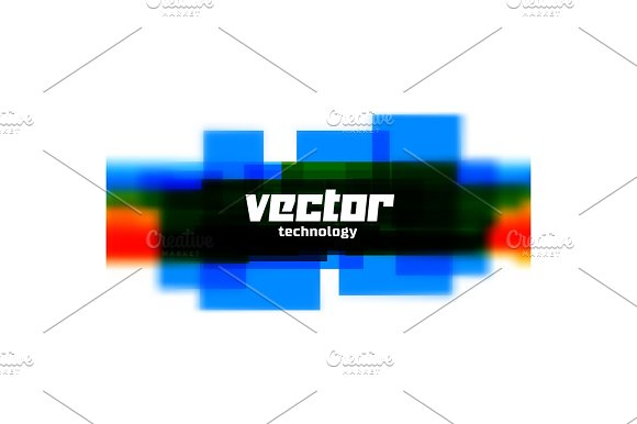 Vector Background With Blue Blurred Lines