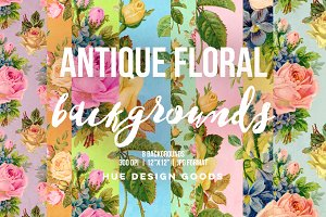 Antique Floral Roses Backgrounds