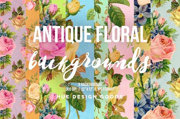 Antique Floral Roses Backgrounds