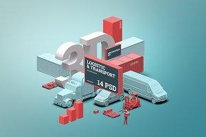 3D Sсene generator: Logistic