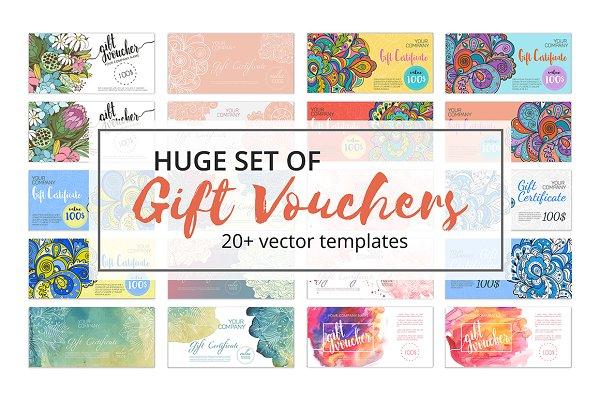 Huge Set of Gift Voucher Templates