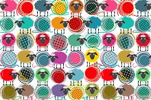Seamless Sheep Patterns Collection