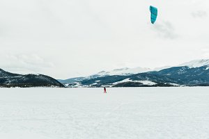 Snowkiting in Colorado