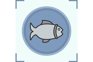 Fish color icon