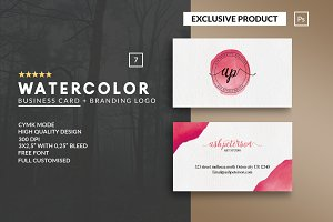 Personal Watercolor Business Card