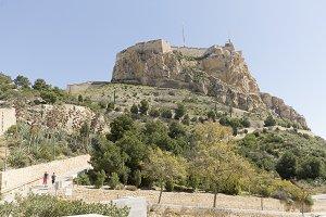 Castle of Santa Barbara in Alicante