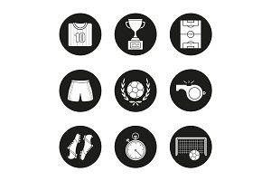 Soccer competition icons set