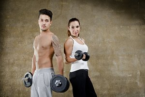 Fitness young couple