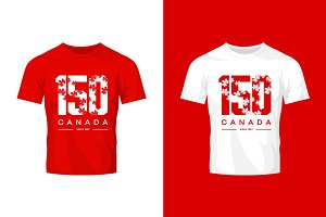 Canada 150 vector t-shirt design
