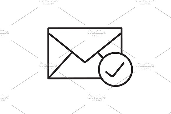 Checked Email Linear Icon