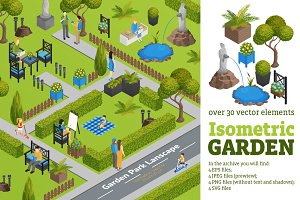 Isometric Garden Elements
