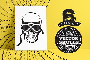 Set of vector skull icons