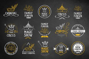 Set of vector circus icons