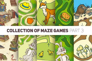Maze Games. Animal Collection