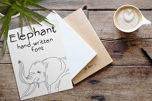 Elephant - Font No.9