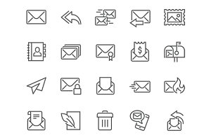 Line Mail Icons