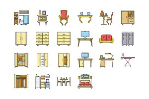 22 Furniture Icons