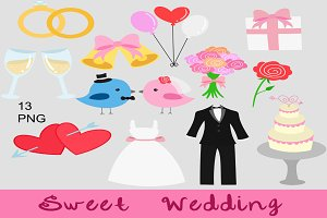Sweet Wedding Clip Art