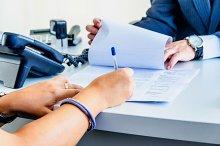 Signing woman