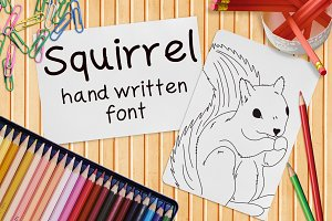 Squirrel - Font No.10