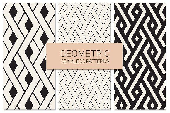 Geometric Seamless Patterns Set 17