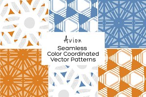 Avion Seamless Vector Patterns