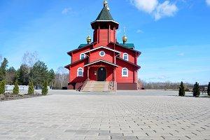 Russian Orthodox red Church,